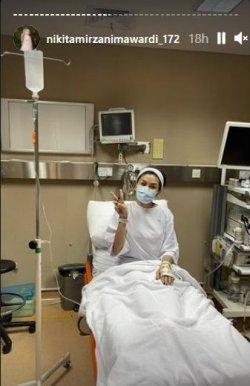 Kondisi Nikita Mirzani saat dilarikan ke rumah sakit.