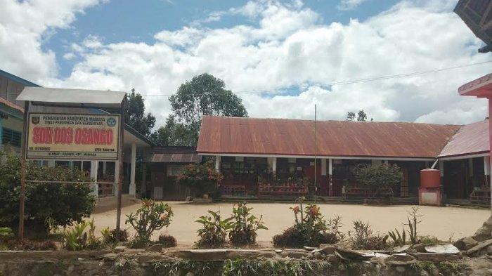 Dua Siswa SDN 003 Osango Terluka Setelah Tertimpa Pagar Sekolah yang Ambruk