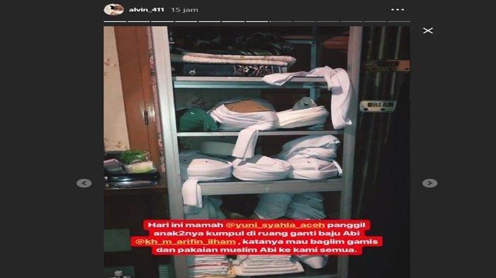 Kondisi ruang pakaian mendiang Ustaz Arifin Ilham