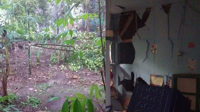 Dinding Rumah Milik Warga Ciamis Jebol Disambar Petir, Suami Pingsan, Istrinya Jerit-jerit Ketakutan