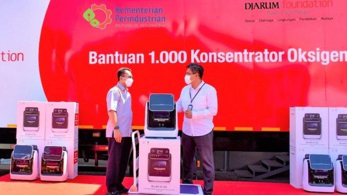 Kemenperin Terima 1.000 Konsentrator Oksigen dari Djarum Foundation