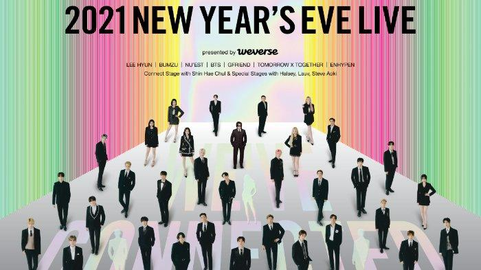 Konser Big Hit Labels 2021 New Year's Eve Live.