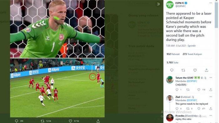 Dua hal kontroversial yang mewarnai kemenangan Inggris atas Denmark di semifinal EURO 2020.