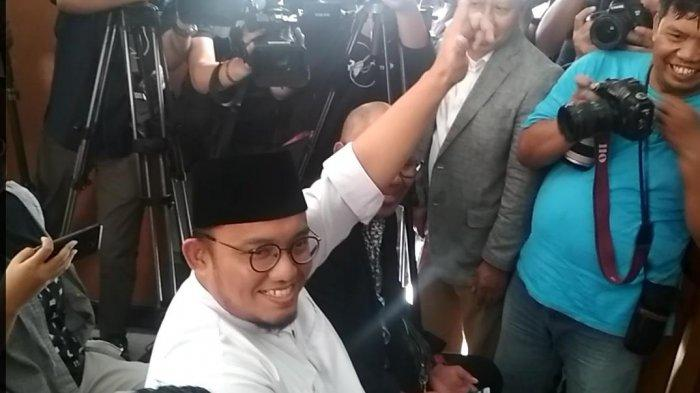 Koordinator BPN Prabowo Subianto-Sandiaga Uno, Dahnil Anzar Simanjuntak, menghadiri sidang dugaan penyebaran berita bohong atau hoaks dengan terdakwa Ratna Sarumpaet di Pengadilan Negeri Jakarta Selatan, Kamis (11/4/2019).
