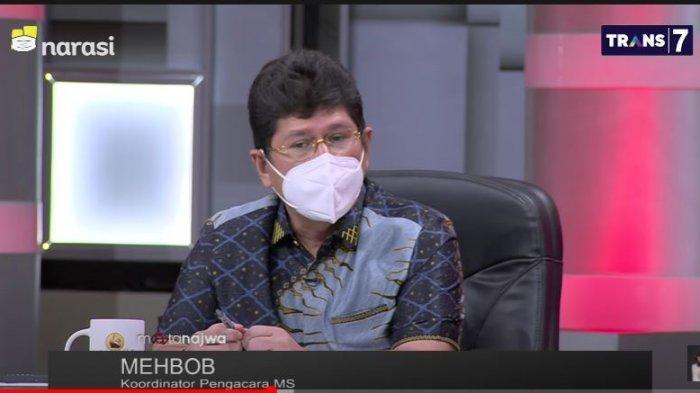 Koordinator pengacara pegawai MS, Mehbob dalam tayangan YouTube Mata Najwa, Rabu (8/9/2021).