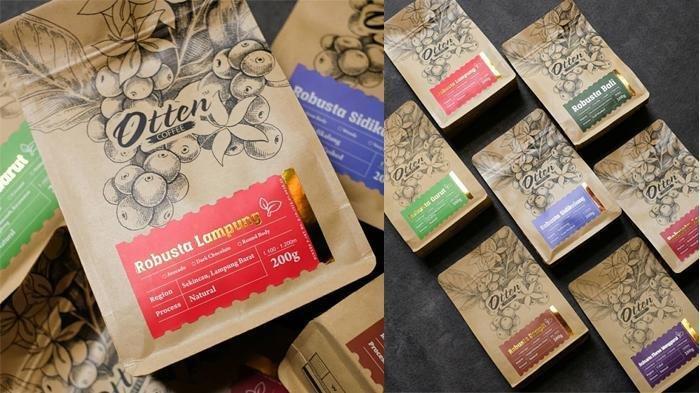 Kopi robusta Otten Coffee.