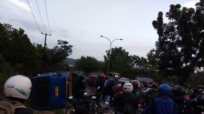 Korban kecelakaan maut di Bukit Daeng Batam, Senin (17/2/2020).