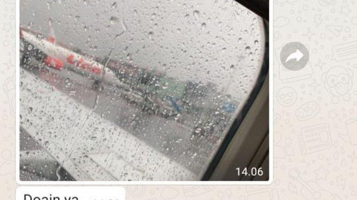 Penumpang Ini Sempat Kirim Foto Sayap Pesawat Sriwijaya Air yang Hilang, Bandara Hujan: Doain Ya