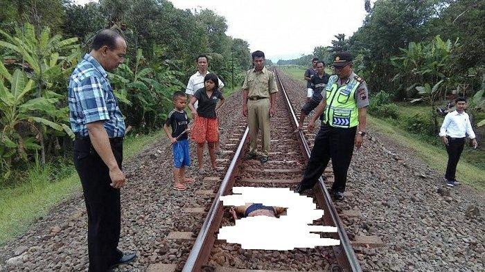 Pria di Kalasan Diduga Sengaja Bunuh Diri di Rel yang akan Dilalui Kereta Api
