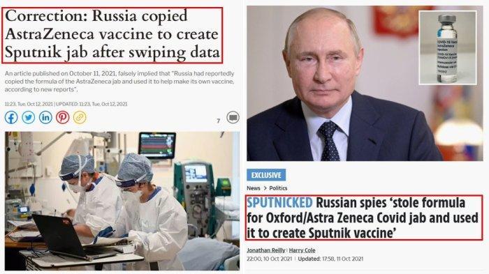 The Daily Express Minta Maaf Publikasikan Klaim Palsu 'Rusia Curi Formula Vaksin AstraZeneca'