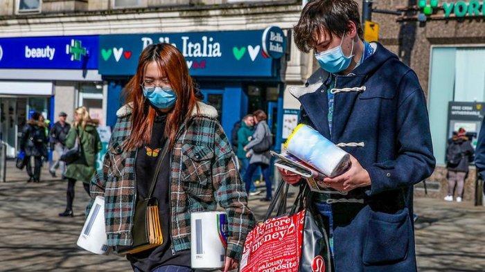 Kota Manchester, Inggris saat pandemi virus corona.