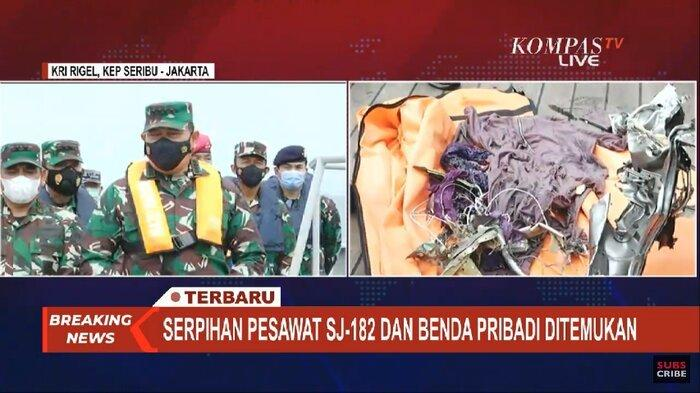 Pencarian Kotak Hitam Sriwijaya Air SJ 182 Masih Dilakukan, Diduga Tertimbun Puing-puing Pesawat