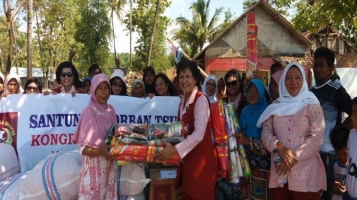 Kowani Salurkan Bantuan untuk Warga Terdampak Tsunami Selat Sunda