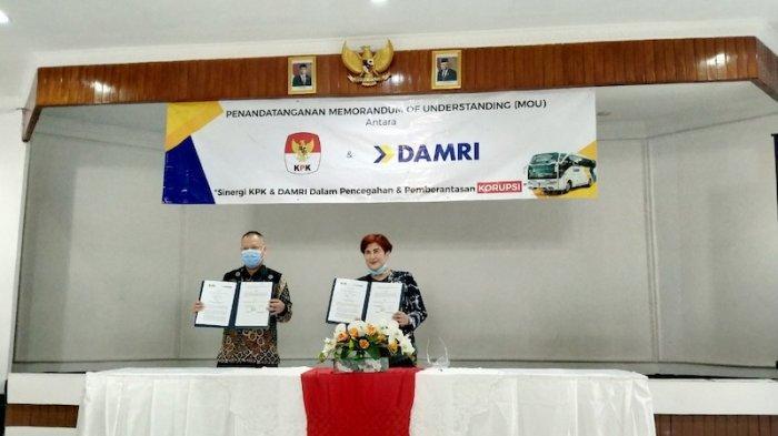 KPK-Damri Teken Nota Kesepahaman Perluas Jangkauan Kampanye Anti-Korupsi