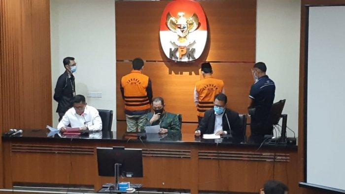 KPK menggelar keterangan pers penahanan mantan Anggota Badan Pemeriksa Keuangan (BPK) Rizal Djalil dan Komisaris Utama PT Minarta Dutahutama Leonardo Jusminarta Prasetyo.