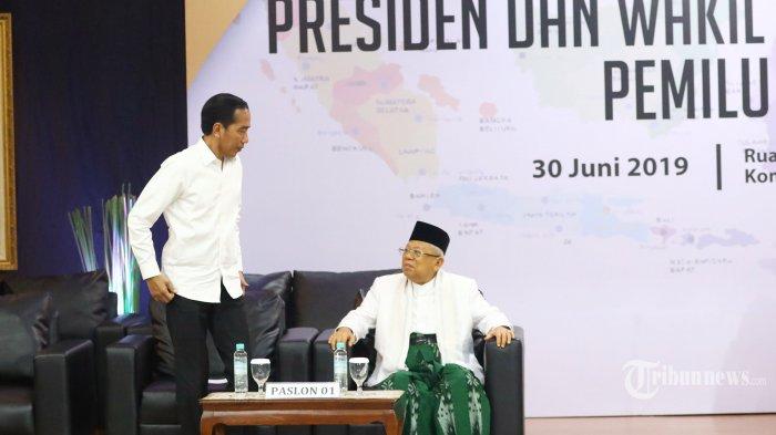 TKN Jokowi-Ma'ruf Akan Dibubarkan Besok