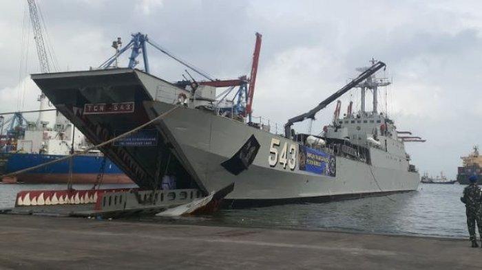 KRI Teluk Cirebon Diberangkatkan Angkut Bantuan Gempa Sulbar