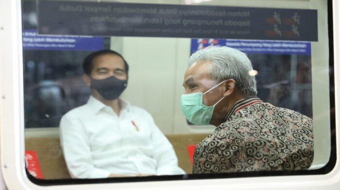 Ganjar Pranowo Mengaku Diledek Presiden Jokowi saat Jajal KRL Yogya-Solo