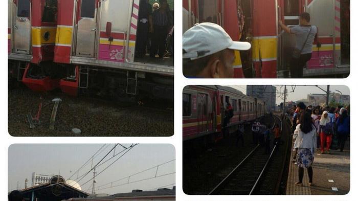 Penyebab Tabrakan: KRL yang Berhenti di Stasiun Juanda Ditabrak dari Belakang ?