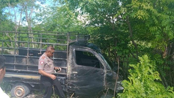 KRONOLOGI Mobil Pikap Terbalik di Sumba Timur, 7 Orang Alami Luka-luka