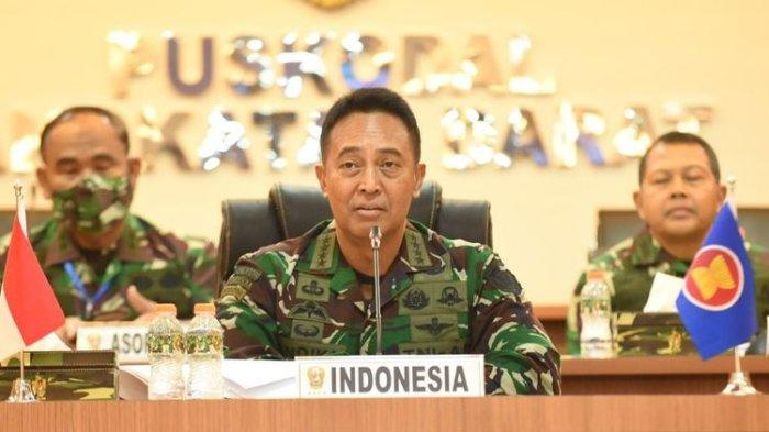 Kepala Staf Angkatan Darat (KSAD) Jenderal TNI Andika Perkasa menggelar video teleconference membahas kerja sama penanganan Covid-19 bersama kepala staf dan panglima angkatan darat (AD) dari 10 negara anggota ASEAN, Kamis, 9/7/2020.