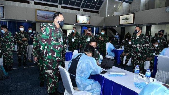 KSAU Tinjau Vaksinasi Covid-19 Tahap I untuk Prajurit di Lingkungan Markas Besar TNI AU