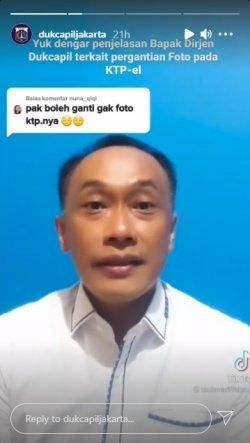 Tangkapan layat InstaStory Instagram/@dukcapiljakarta