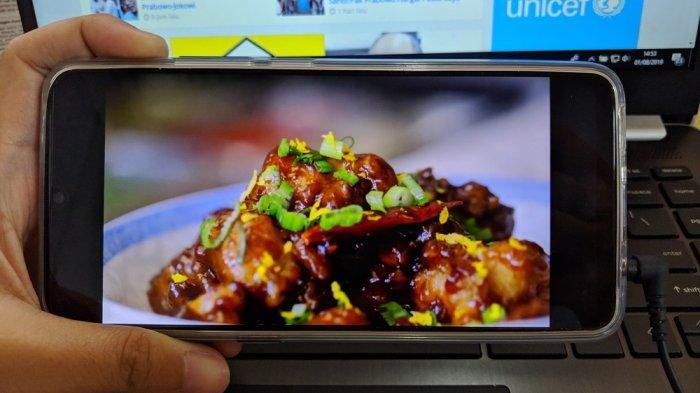Kualitas layar vivo S1 ketika memainkan video beresolusi tinggi.