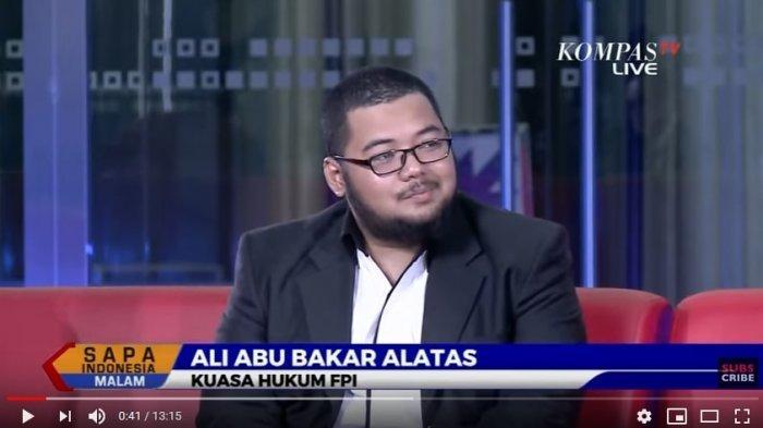 Kuasa Hukum FPI Ali Abu Bakar Alatas. (Tangkapan Layar YouTube Kompas TV)