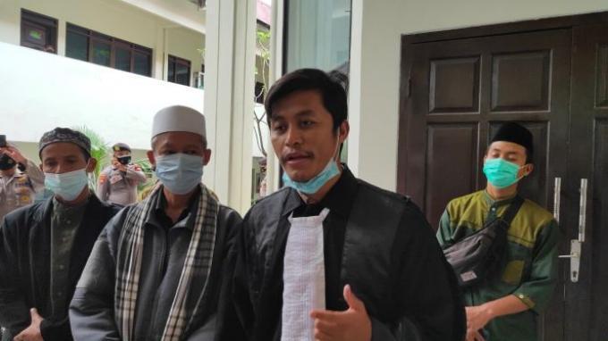 Ricky Fatmazaya selaku kuasa hukum Gus Nur, di Pengadilan Negeri Jakarta Selatan, Selasa (16/2/2021).