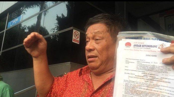 Andar Situmorang, kuasa hukum Pablo Benua, geram lantaran laporannya ditolak pihak Polda Metro Jaya. Pada Senin (15/7/2019)