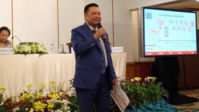 Kuasa hukum tersangka kasus dugaan korupsi BLBI Sjamsul Nursalim, Otto Hasibuan