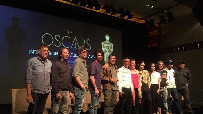 Film Kucumbu Tubuh Indahku diumumkan melenggang ke Oscar dalam Konferensi pers di XXI Lounge Plasa Senayan, Jakarta Pusat, Selasa (17/9/2019).
