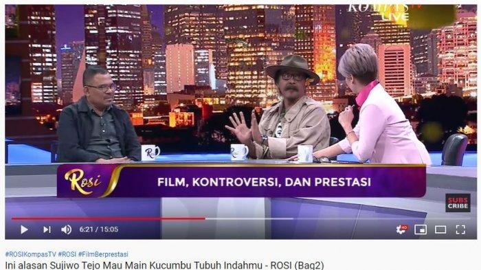Sujiwo Tejo Ungkap Alasan Mau Bintangi Kucumbu Tubuh Indahku, Film Kontroversi Raih 8 Piala Citra