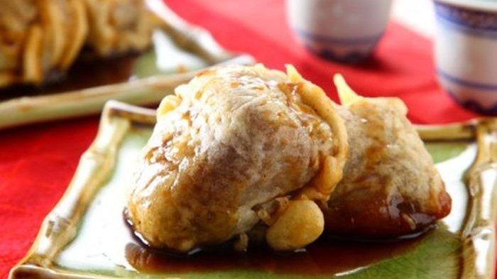 Resep Kue Keranjang Goreng Saus Karamel dan Tips Agar saat Digoreng Terasa Renyah