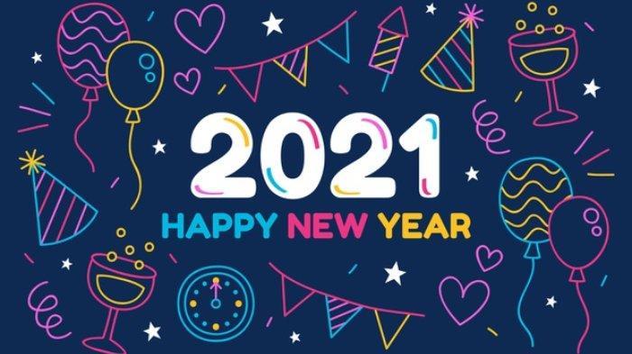 35 Gambar Ucapan Selamat Tahun Baru 2021, Kirim ke WA atau Jadi Status di  IG, Twitter, Facebook - Tribunnews.com Mobile