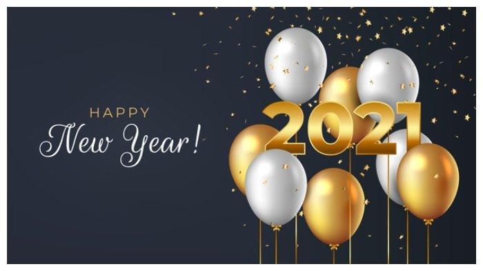 Kumpulan Kartu Ucapan Tahun Baru 2021.