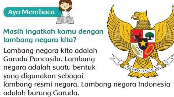 KUNCI JAWABAN Buku Tematik Kelas 3 SD Tema 8 Halaman 12 13 14 15: Lambang Negara Indonesia