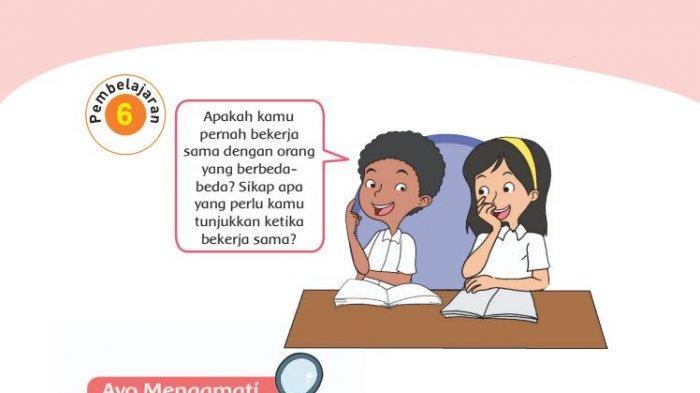 Kunci Jawaban Kelas 4 SD Tema 1 Halaman 123 124 125 127 Buku Tematik Subtema 2 Pembelajaran 6