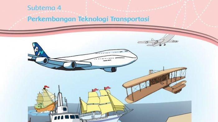 KUNCI JAWABAN Kelas 3 Tema 7 Halaman 179 180 181 182 183 186 187 188 189 Perkembangan Transportasi