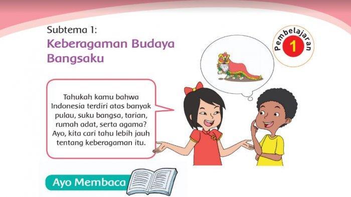 Kunci Jawaban Kelas 4 SD Tema 1 Halaman 3 4 5 6 7 8 9 10 11 12 Buku Tematik Subtema 1 Pembelajaran 1