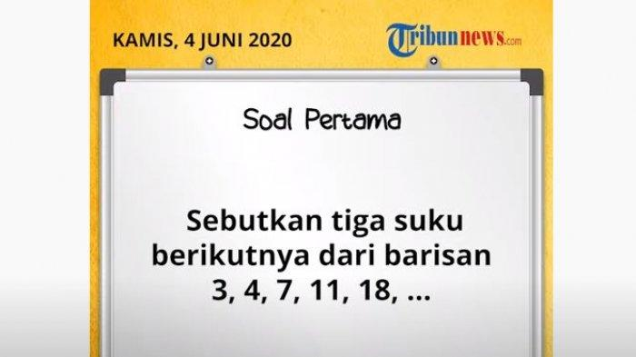 Kunci Jawaban Soal Tvri Smp Kamis 4 Juni 2020 Matematika Manfaat Betul Pola Bilangan Tribunnews Com Mobile