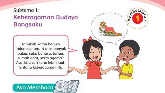 Kunci Jawaban Buku Tematik Tema 1 Kelas 4 SD Halaman 3-16 Subtema 1 Pembelajaran 1