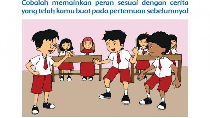 Kunci Jawaban Tema 2 Kelas 3 SD Halaman 201 202 203 205 206 Tematik Pembelajaran 6: Peran dan Tugas