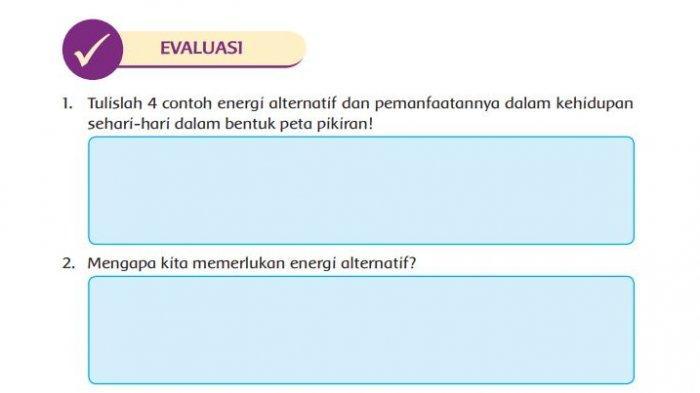 Kunci Jawaban Tema 2 Kelas 4 SD Halaman 137 138 Buku Tematik Subtema 3: Evaluasi