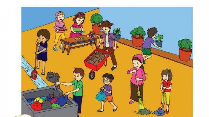 Kunci Jawaban Tema 3 Kelas 3 SD Halaman 89 90 93 Buku Tematik Subtema 2: Benda Cair, Gotong Royong