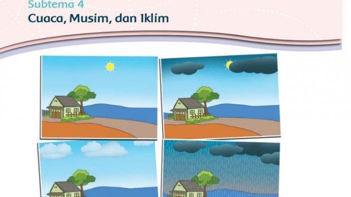 KUNCI JAWABAN Tema 5 Kelas 3 Halaman 177 dan 184 Tematik Subtema 4 Pembelajaran 1 Cuaca Musim Iklim