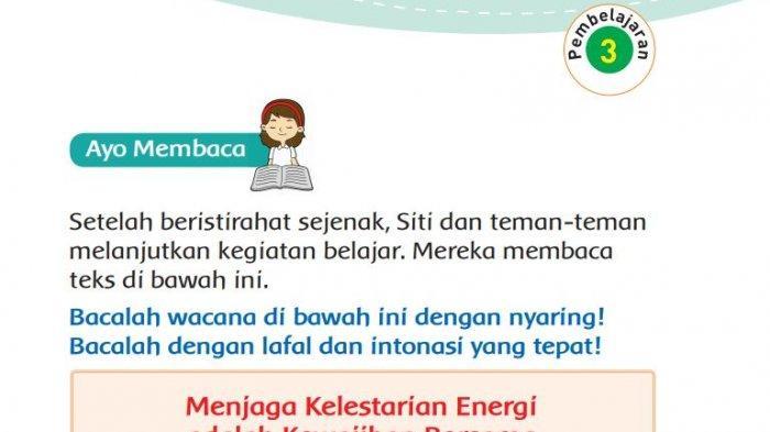 Kunci Jawaban Tema 6 Kelas 3 SD Halaman 23 24 27 Subtema 1 Pembelajaran 3 Tematik Sumber Energi
