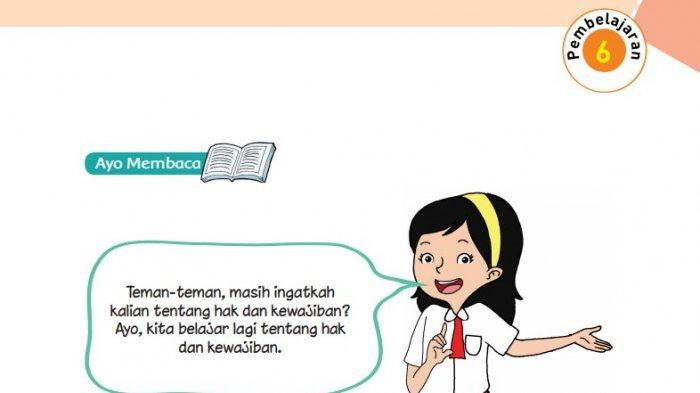 Kunci Jawaban Tema 8 Kelas 6 Sd Halaman 125 126 127 Buku Tematik Pembelajaran 6 Hak Dan Kewajiban Tribunnews Com Mobile