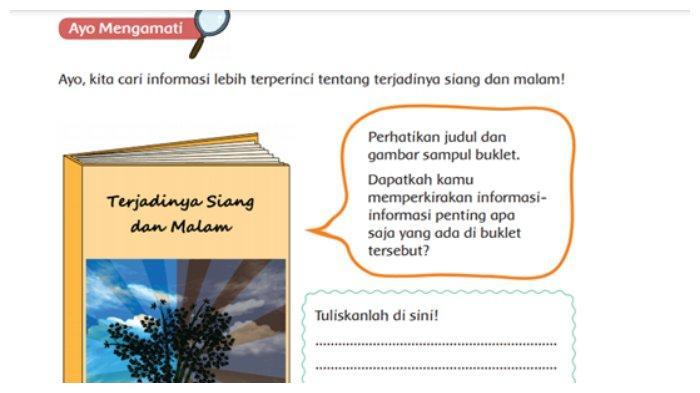 KUNCI JAWABAN Tema 8 Kelas 6 SD Halaman 2 3 4 5 6 7 8 Buku Tematik: Terjadinya Siang dan Malam